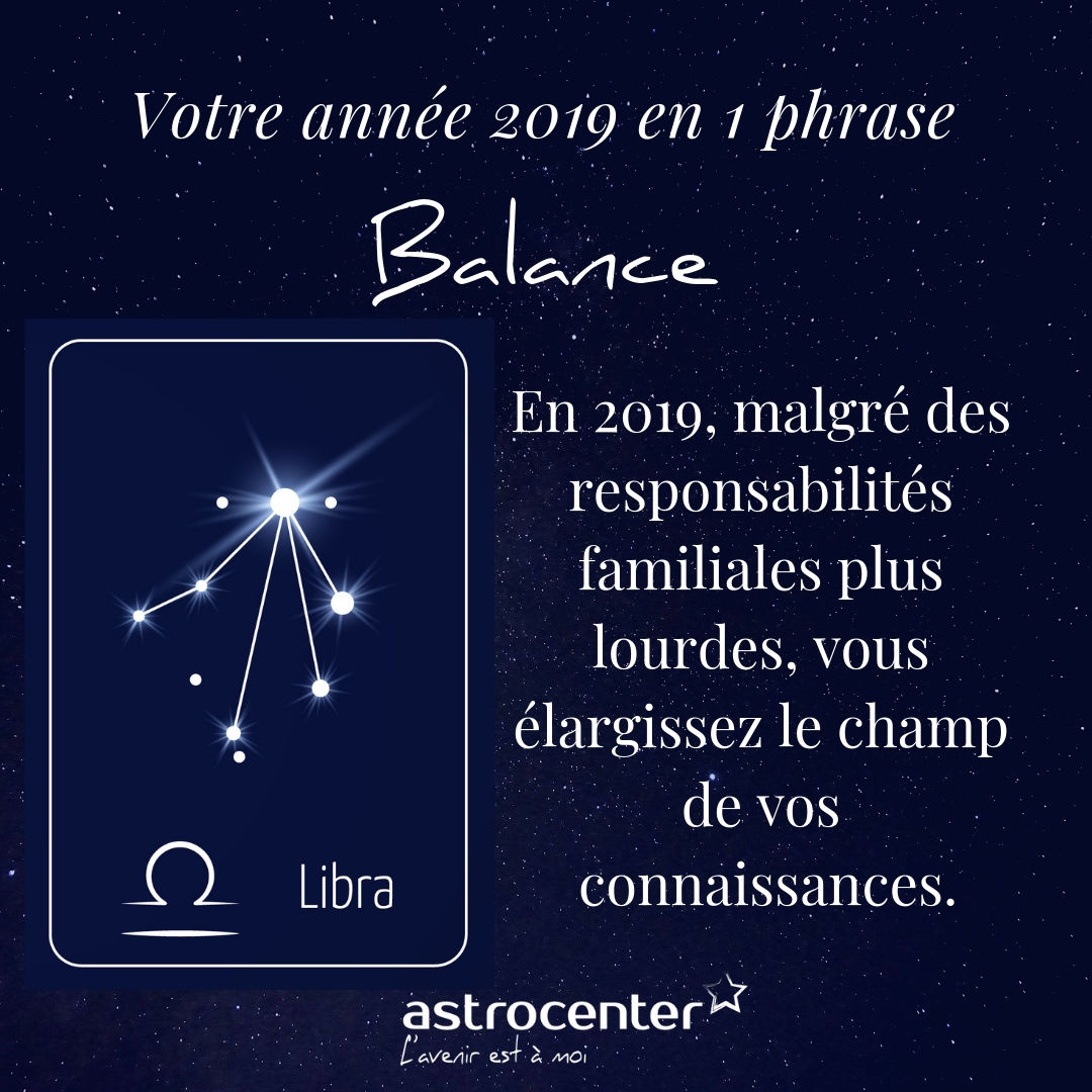 Horoscope Balance 2019