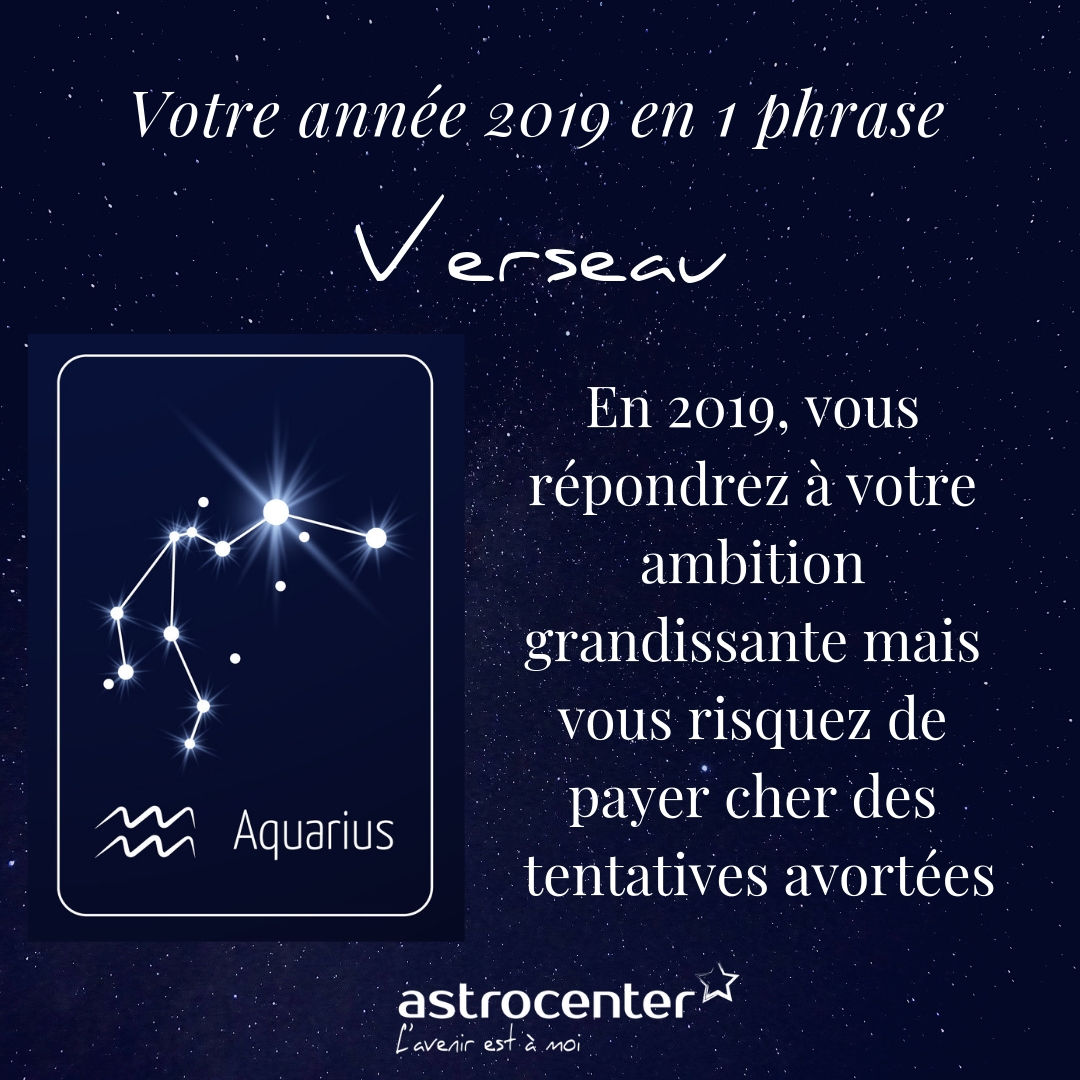 Horoscope Verseau 2019