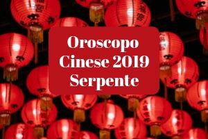 Oroscopo Cinese 2019 del Serpente