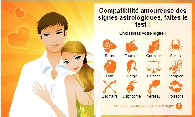Test de compatibilité amoureuse gratuite