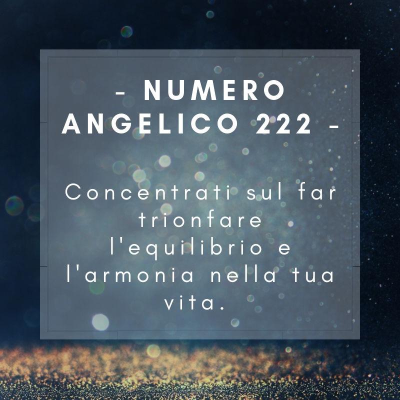 Numero angelico 222