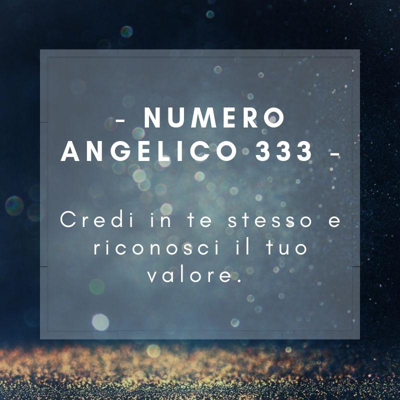 Numero angelico 333