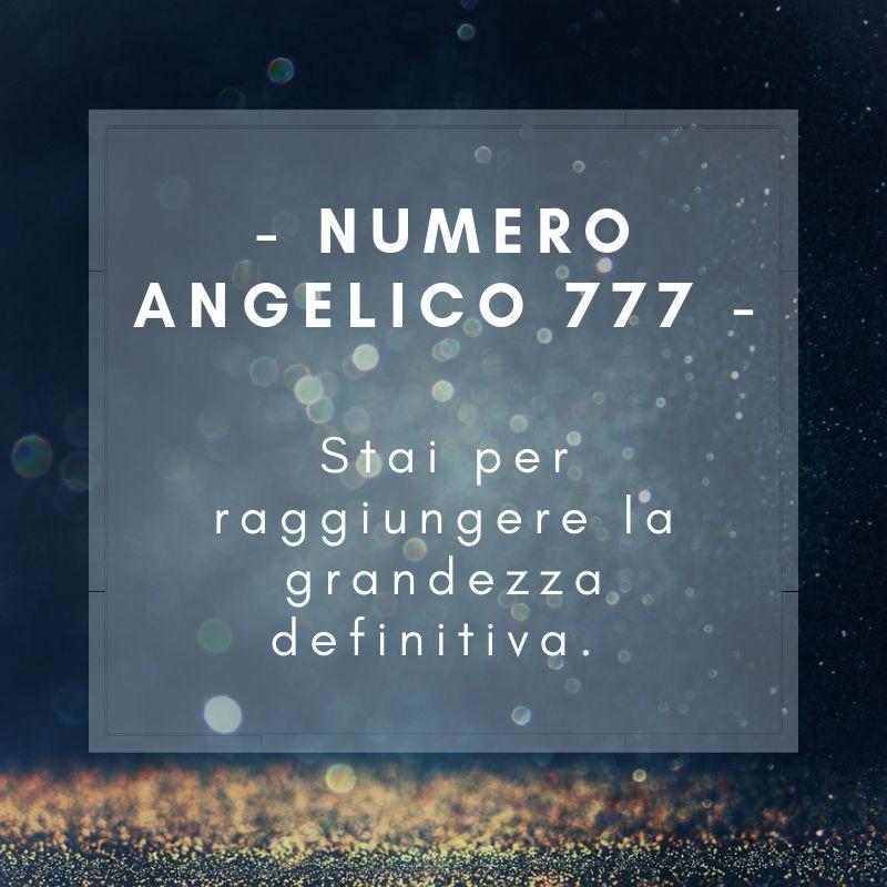 Numero angelico 777