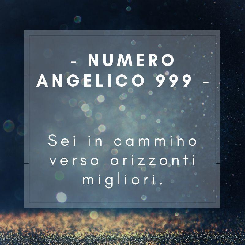 Numero angelico 999