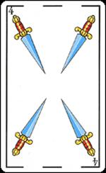 L'interpretazione del Quattro di Spade