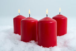 Red candle rouge