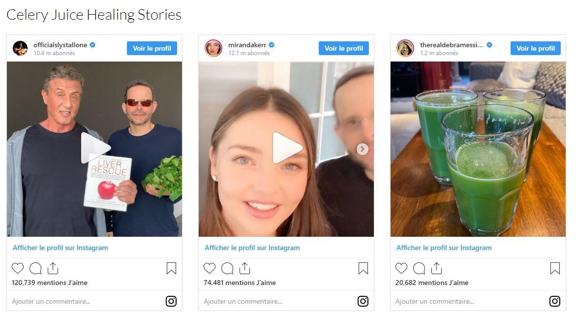 celery juice instagram
