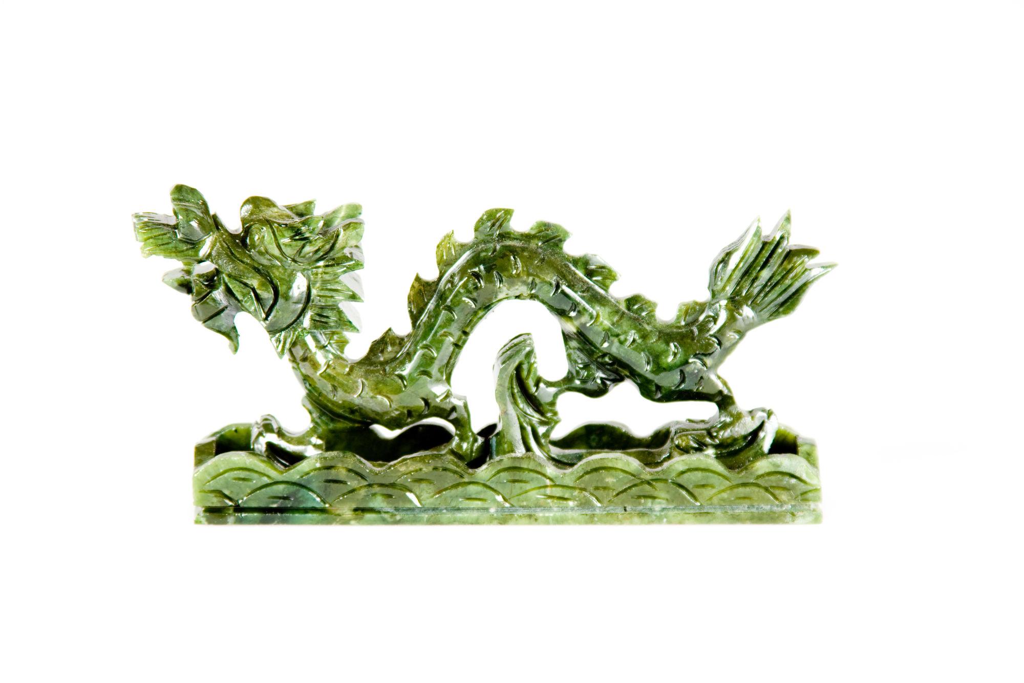 Drago cinese di giada