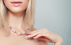 Collana di quarzo rosa