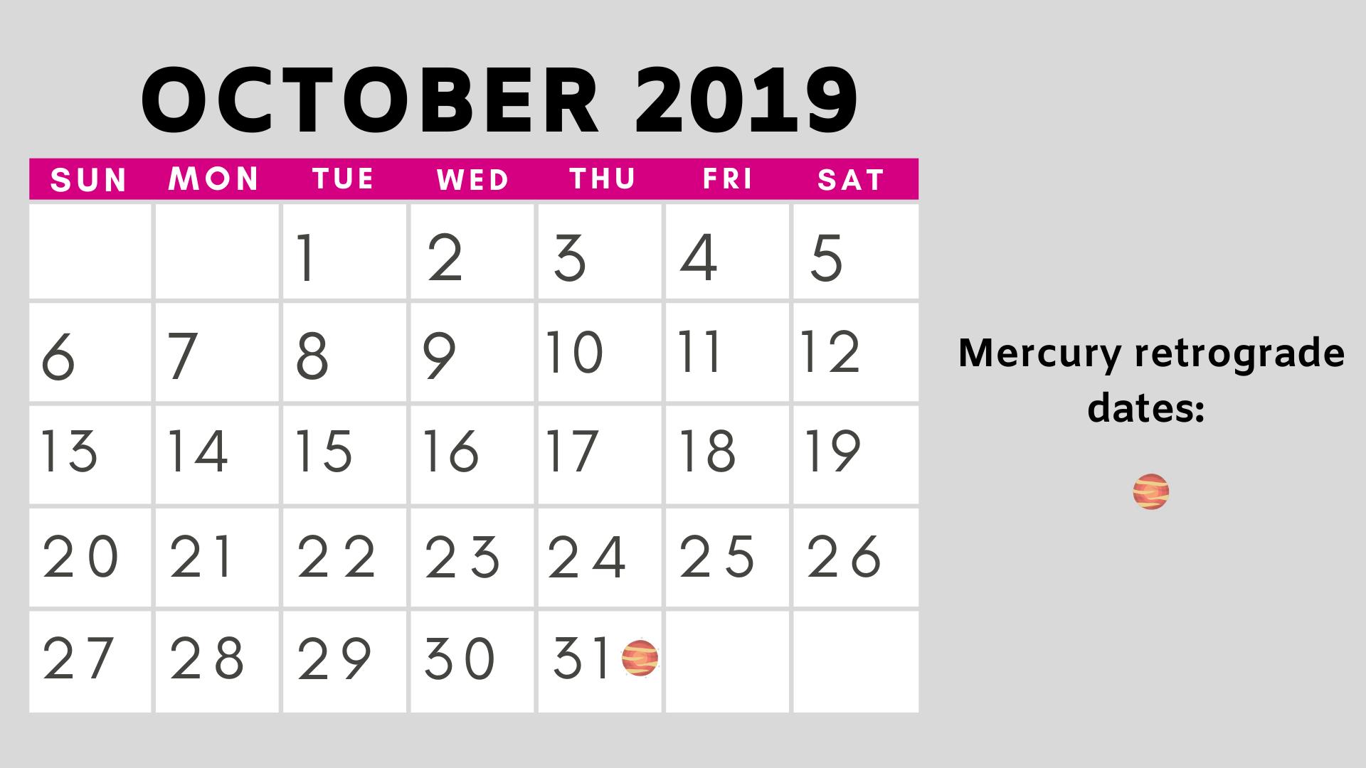 Mercury retrograde dates 2019