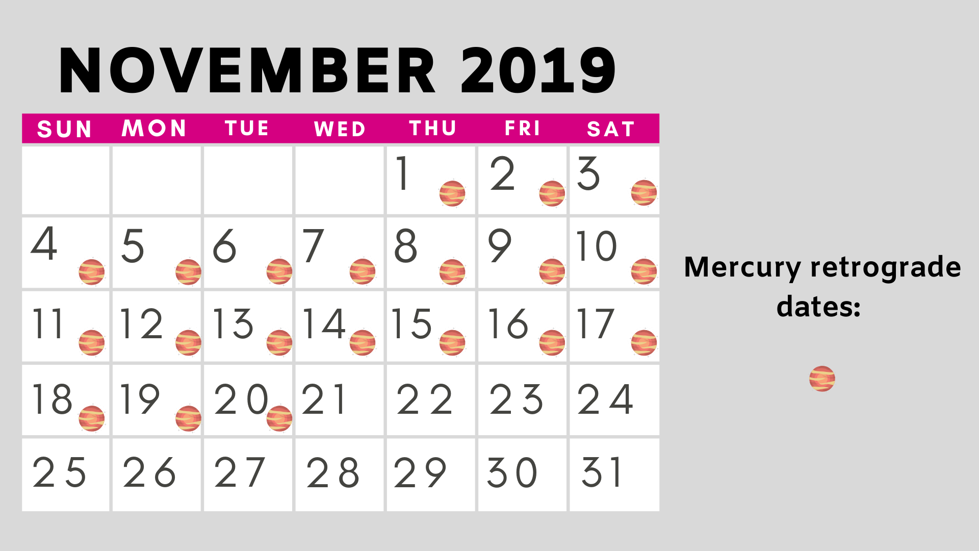 November Mercury retrograde