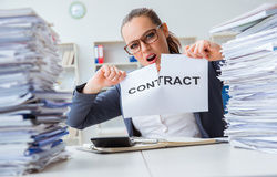 femme rompre contrat