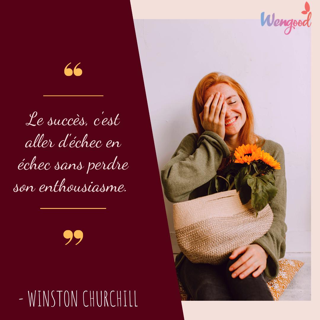 « Le succès, c'est aller d'échec en échec sans perdre son enthousiasme. » Winston Churchill