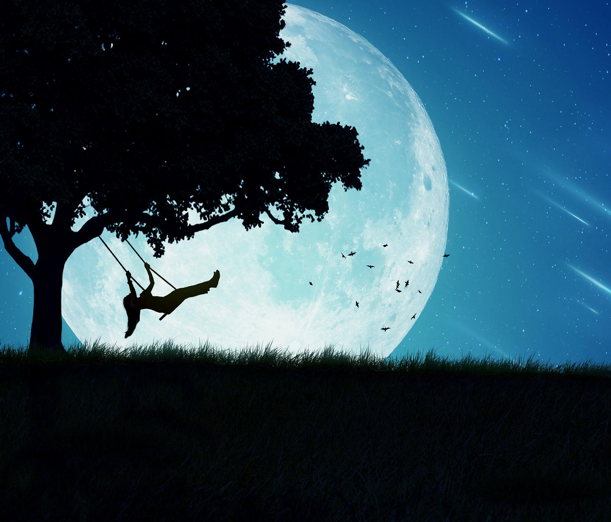 Luna Piena di notte