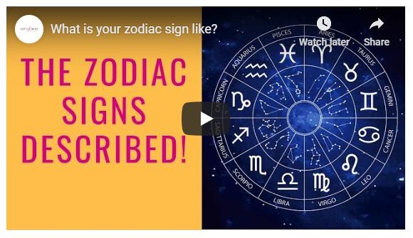 Zodiac sign video