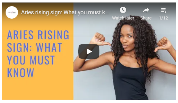 Rising sign video