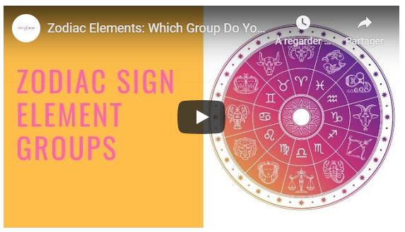 Video - Zodiac sign element groups