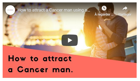 Video: How to attract a Cancer man