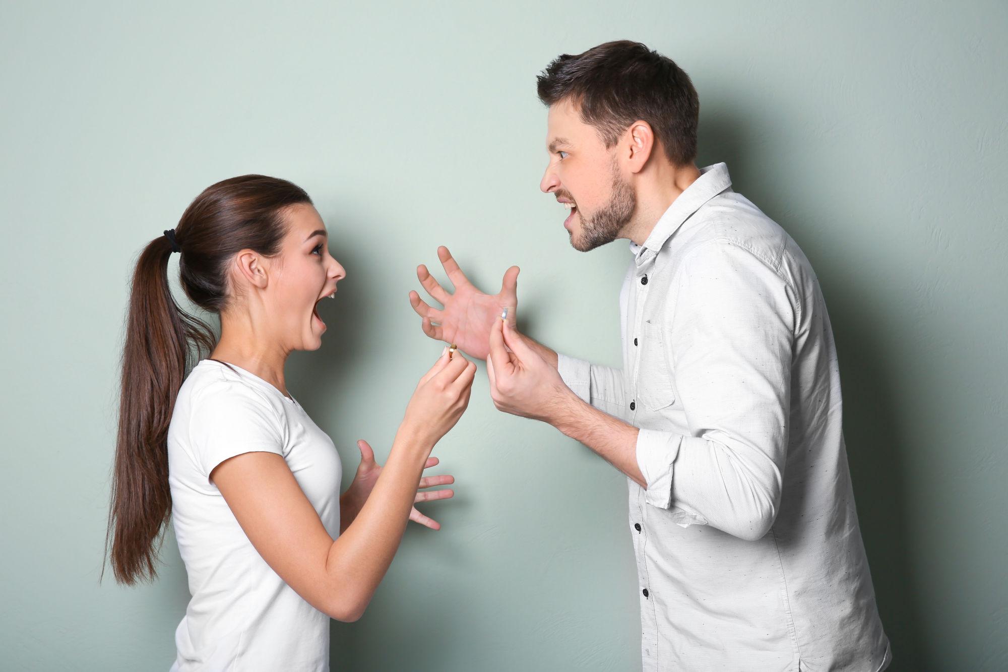 Tense couple