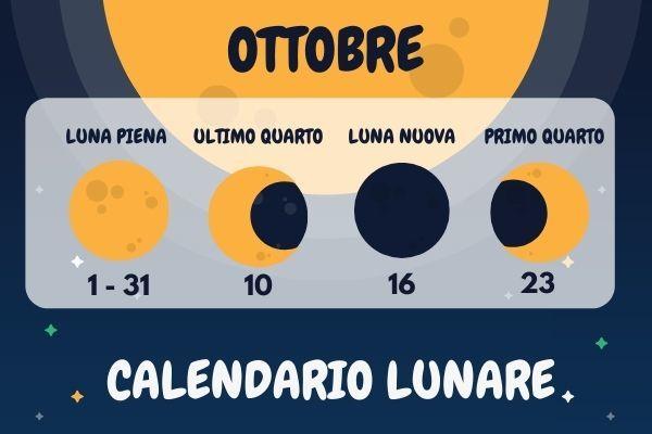 Calendario lunare ottobre