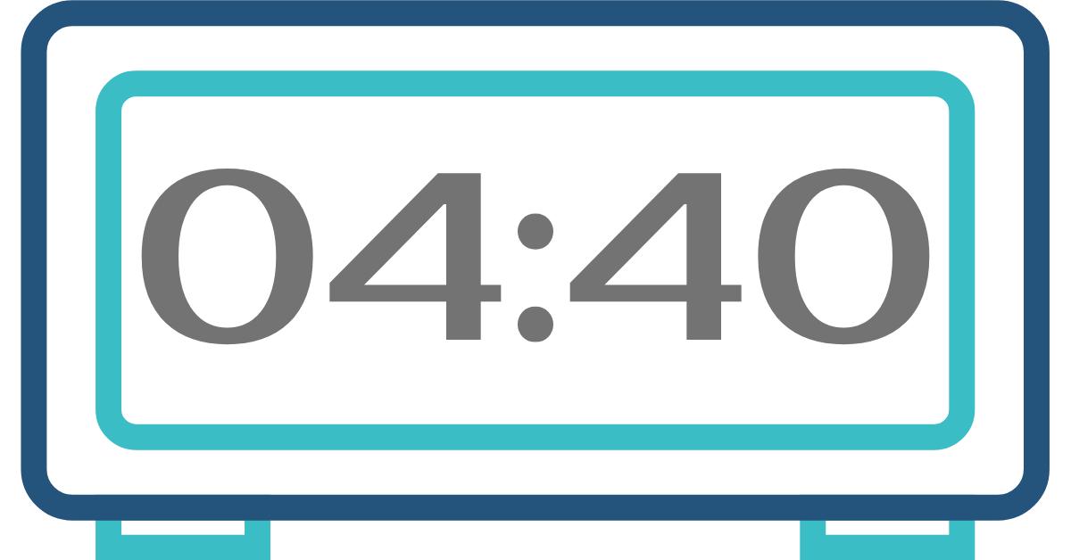 hora invertida 04:40