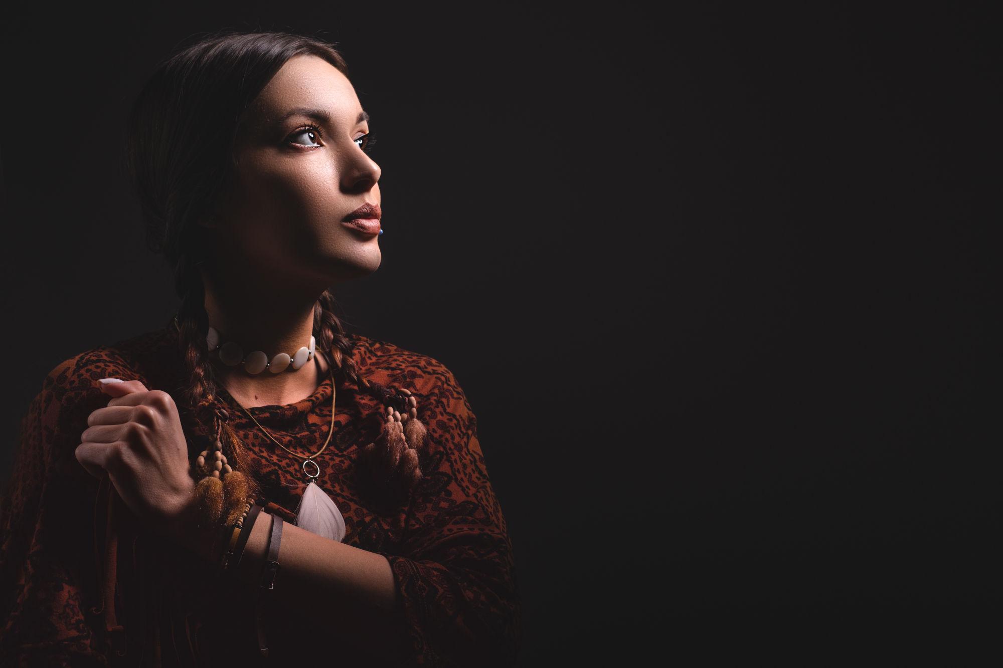 chica amerindia