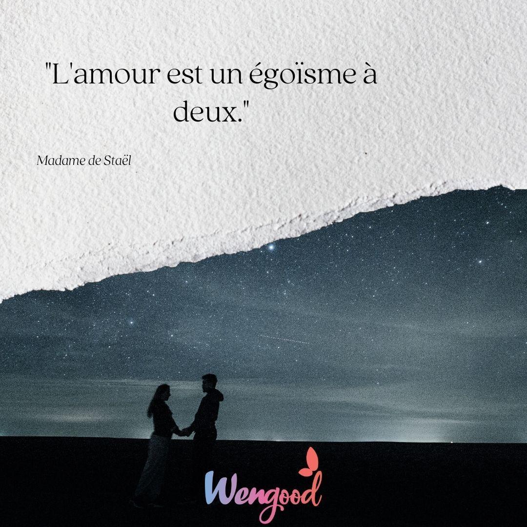 L'amour est un égoïsme à deux.