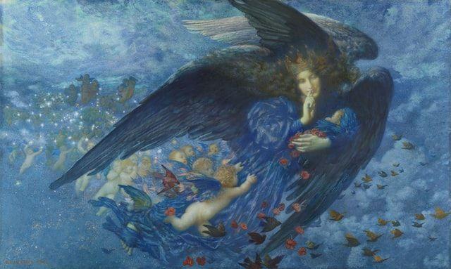 Dipinto raffigurante un angelo