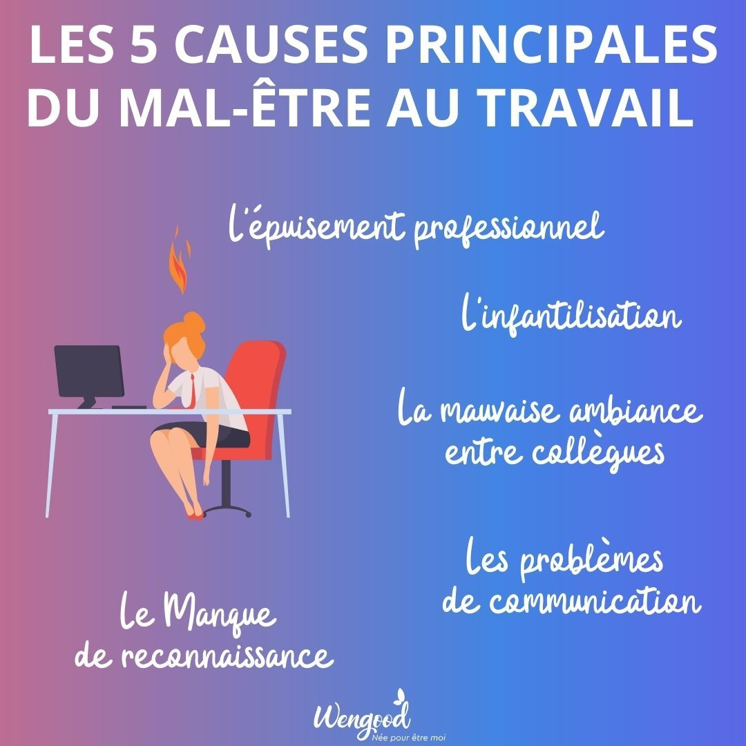 es 5 causes principales du mal-être au travail