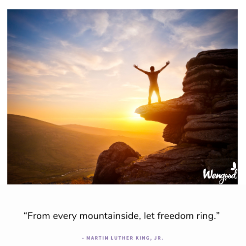 """""""From every mountainside, let freedom ring."""" - Martin Luther King, Jr."""