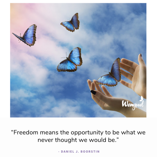 """""""Freedom means the opportunity to be what we never thought we would be."""" - Daniel J. Boorstin"""
