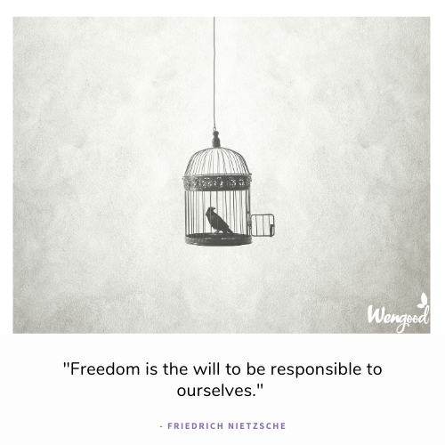 """""""Freedom is the will to be responsible to ourselves."""" - Friedrich Nietzsche"""