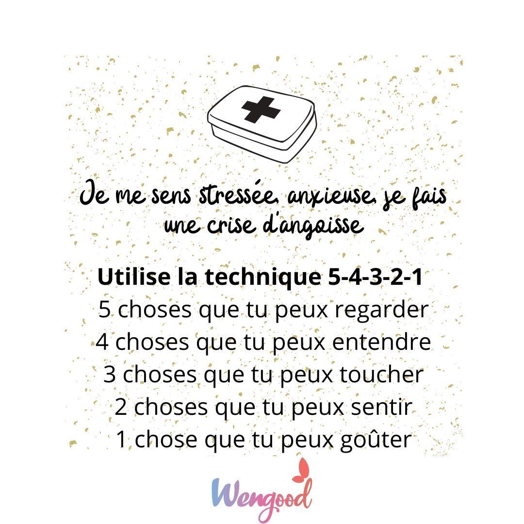 Utilise la technique 5-4-3-2-1