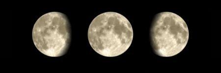 lune gibbeuse ascendante et descendante