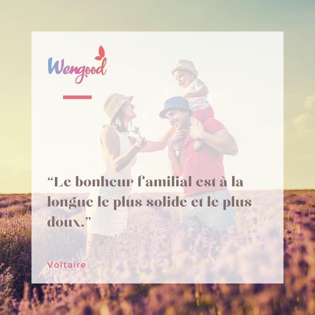 """""""Le bonheur familial est à la longue le plus solide et le plus doux."""" Voltaire"""