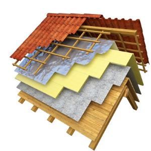 Couches isolation du toit
