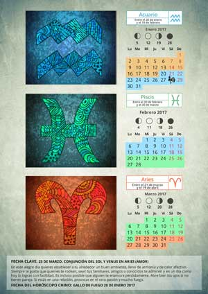 Calendario Acuario Piscis Aries