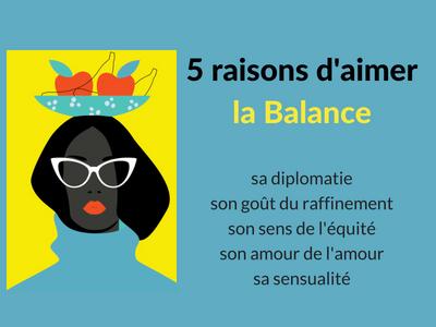 5 raisons d'aimer une balance