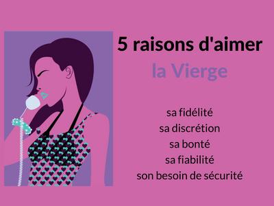 5 raisons d'aimer une vierge