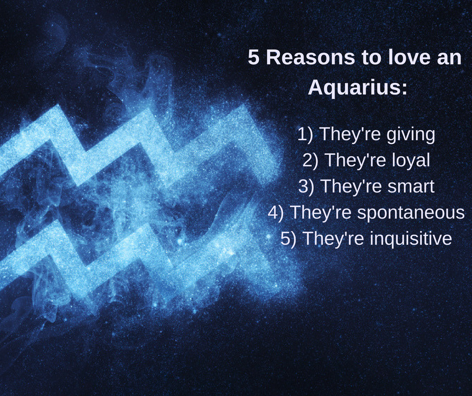 5 Reasons to love an Aquarius