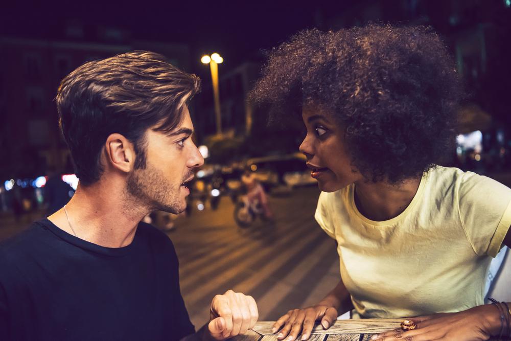 Una coppia che litiga