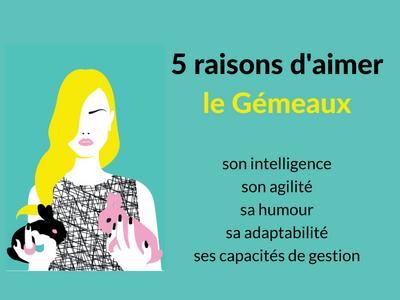 5 raisons d'aimer un gémeaux