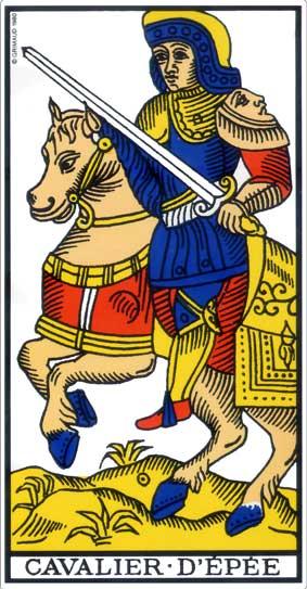 Tarot 2019 cavalier d'épée